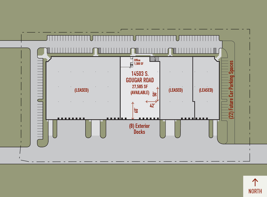 Illustrated plan of Heritage Crossing Building 2